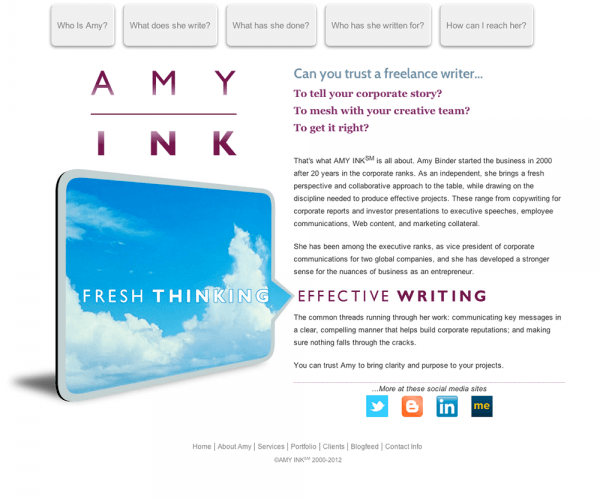 Amy Ink, Copywriting Services